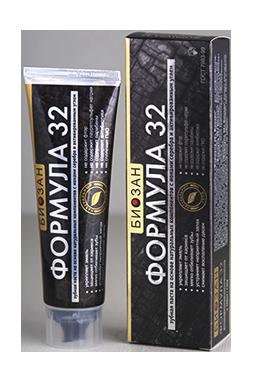 Натуральная зубная паста с ионами серебра «Формула 32 Биозан»